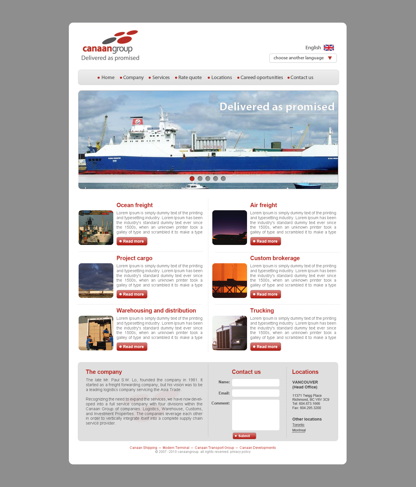 Website template canaan group maxwellsz